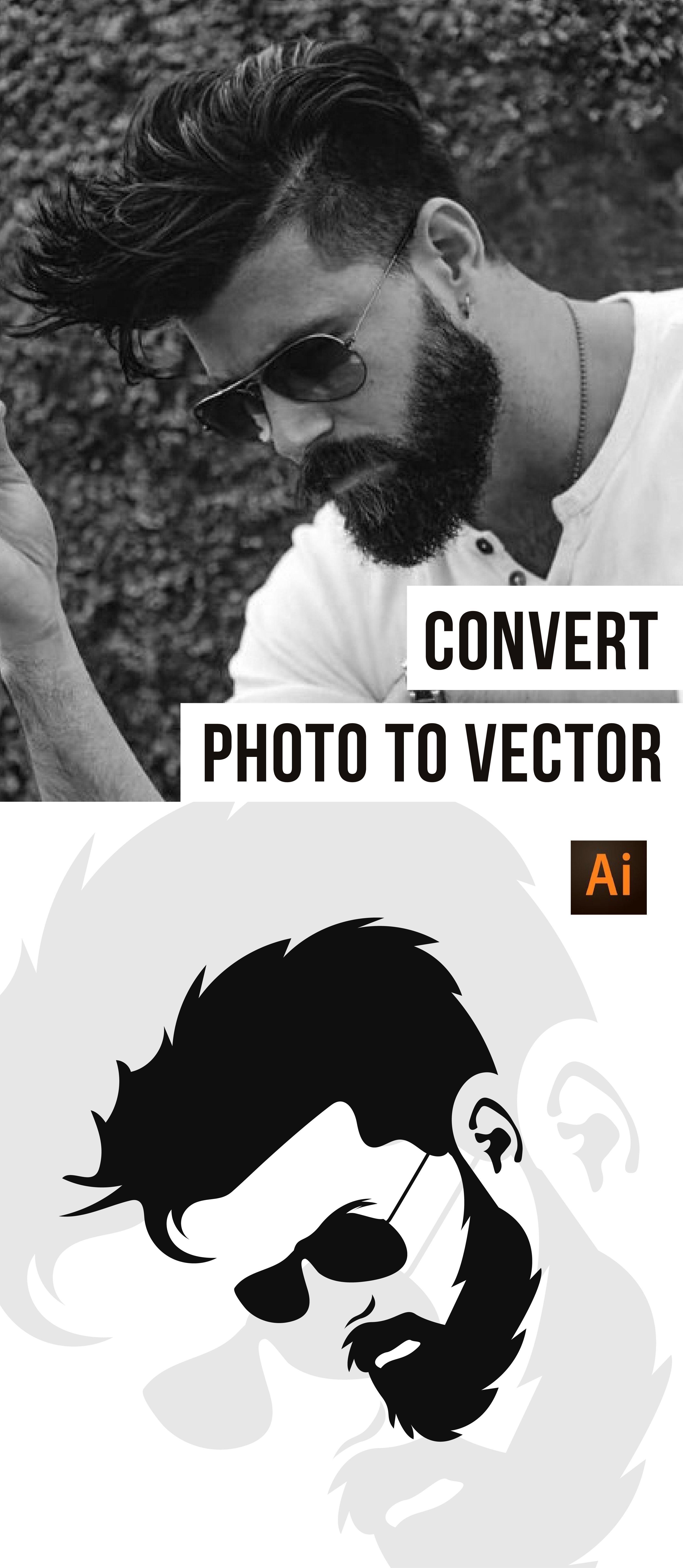 Convert Photo To Vector .. photoportrait vectorportrait