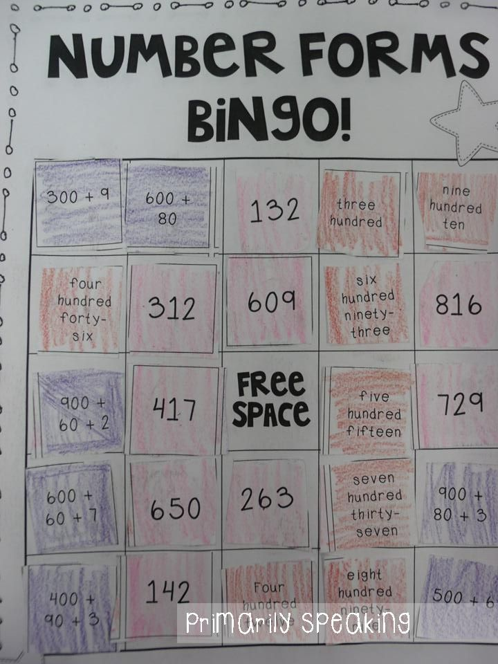 Number forms bingo expanded form standard form and word form – Word Form Math Worksheets