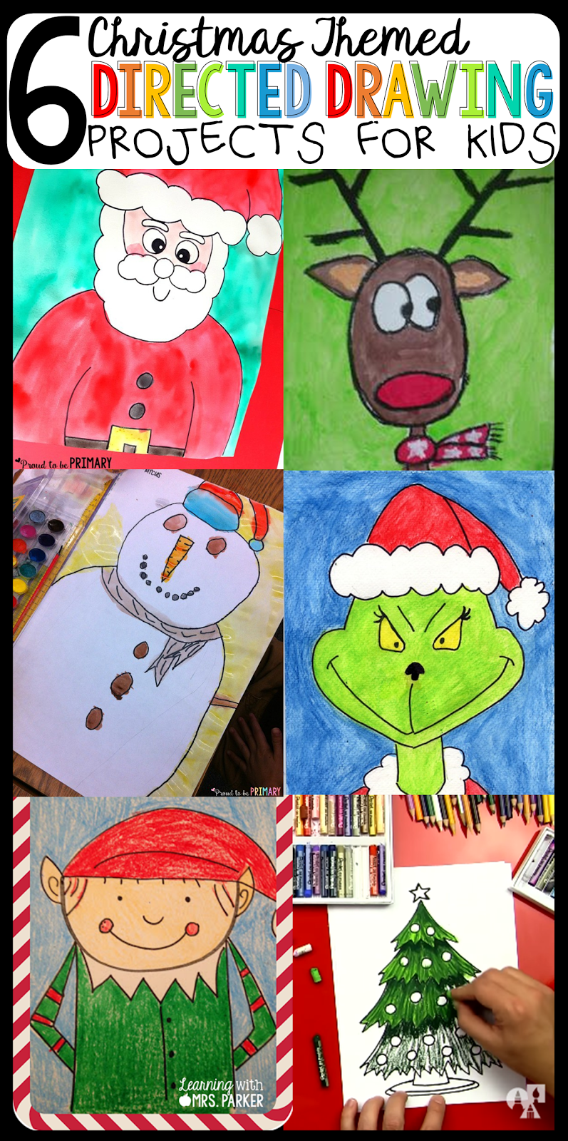 6 Christmas Themed Directing Drawing Projects for Kids | Christmas ...