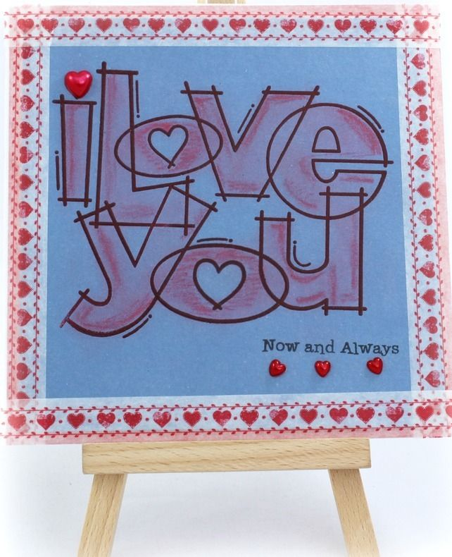 fizzi~jayne makes.... I Love You Handmade Valentine's Card available from http://folksy.com/shops/FizziJayne