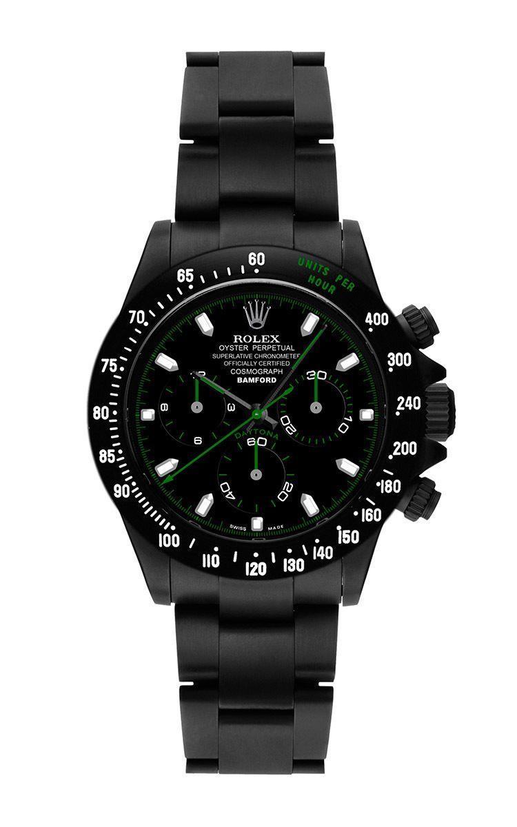 Black Rolex Daytona by BAMFORD WATCH DEPARTMENT for Preorder on Moda  Operandi 99d12dacbc9