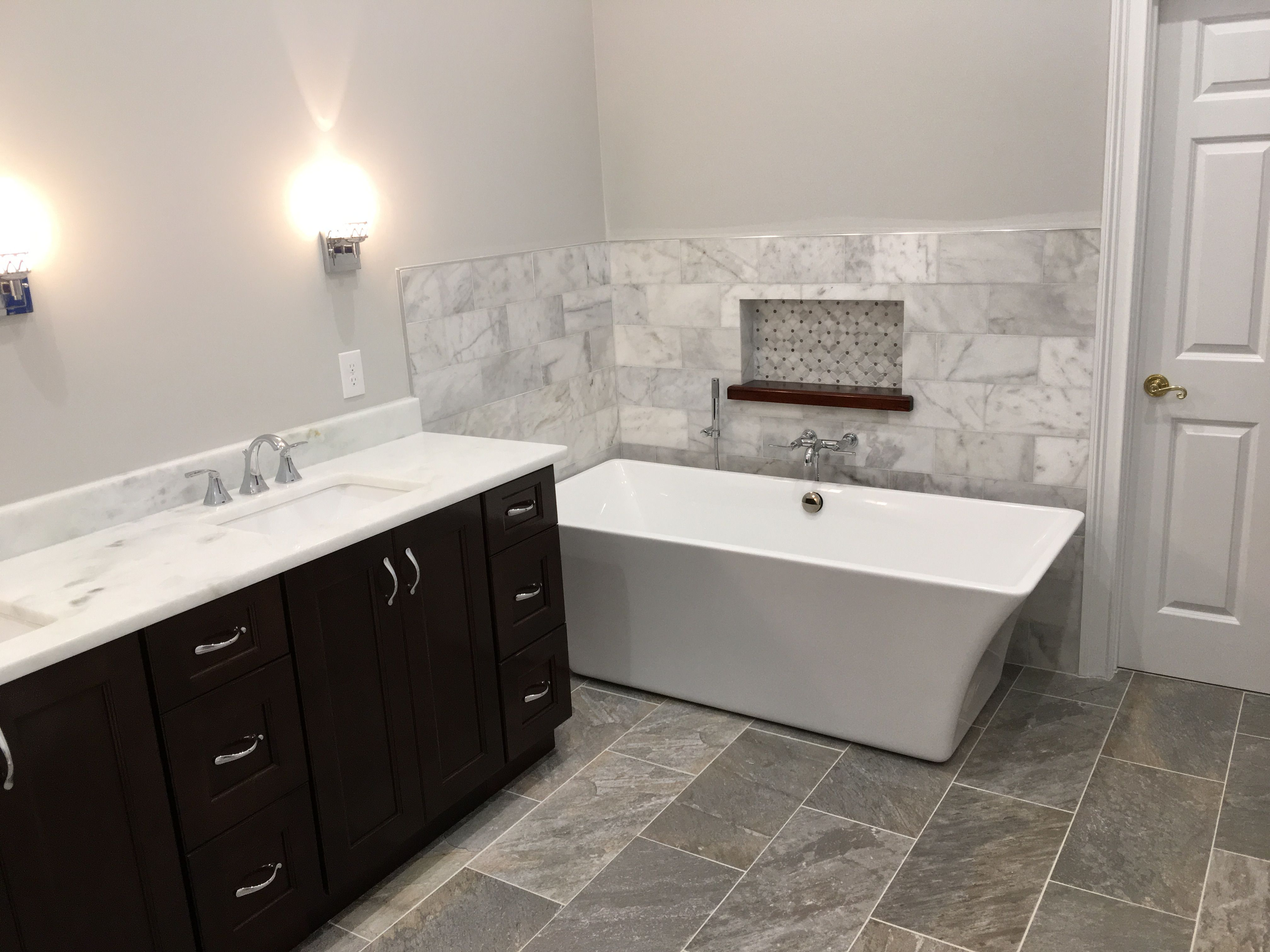 Marble wainscoting emrich bathrooms pinterest wainscoting
