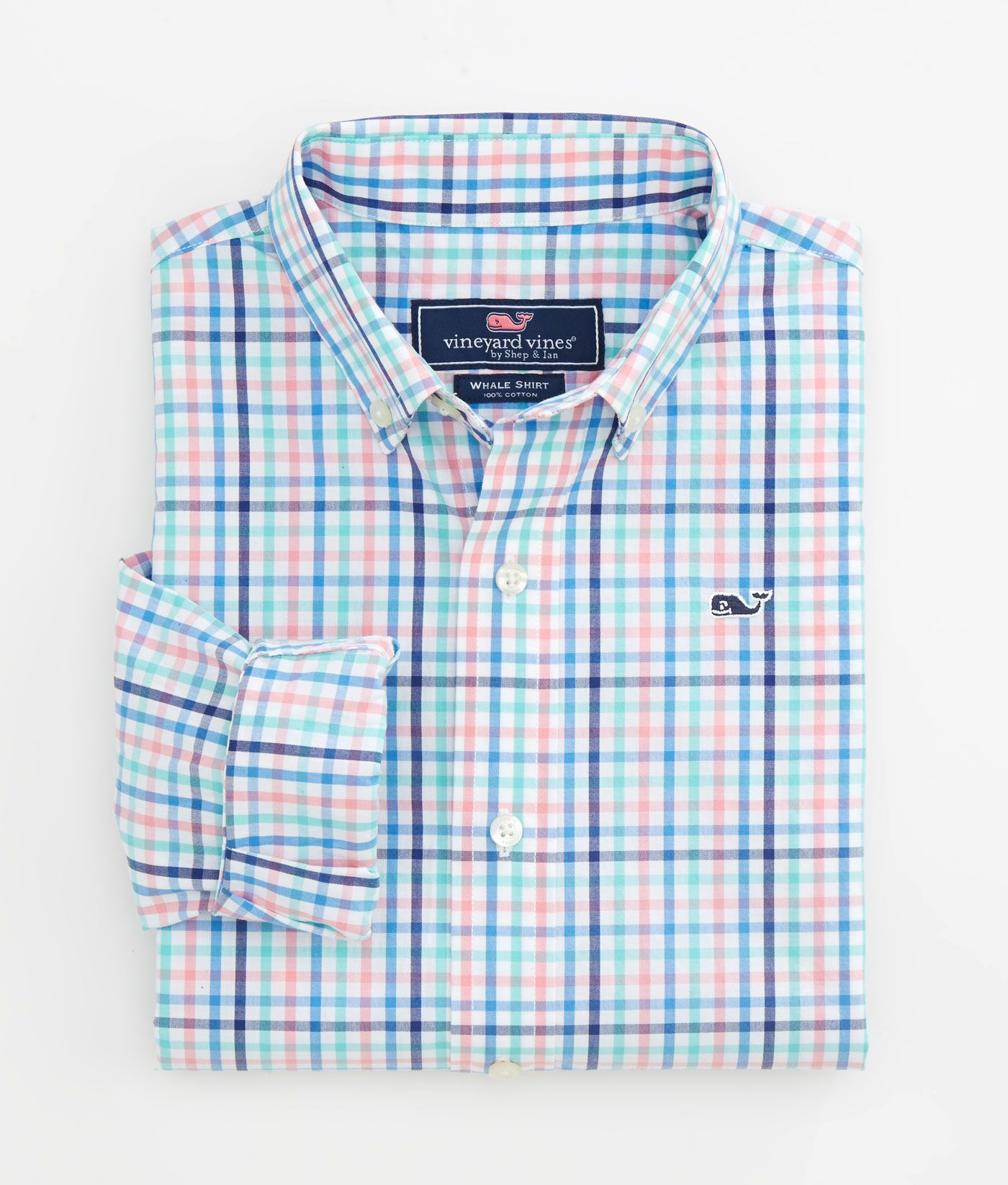 60506749 Shop Boys Channing Check Classic Whale Shirt at vineyard vines | My ...