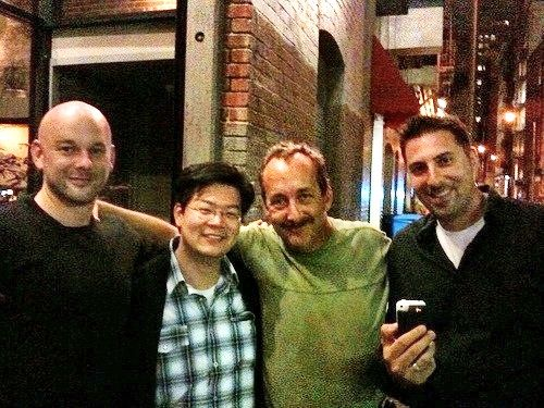 Jay's sneaky smile with JeffX, Rob and Rudy - San Fran 2009.....LOVE YA JAY!!!  Get better NOW!