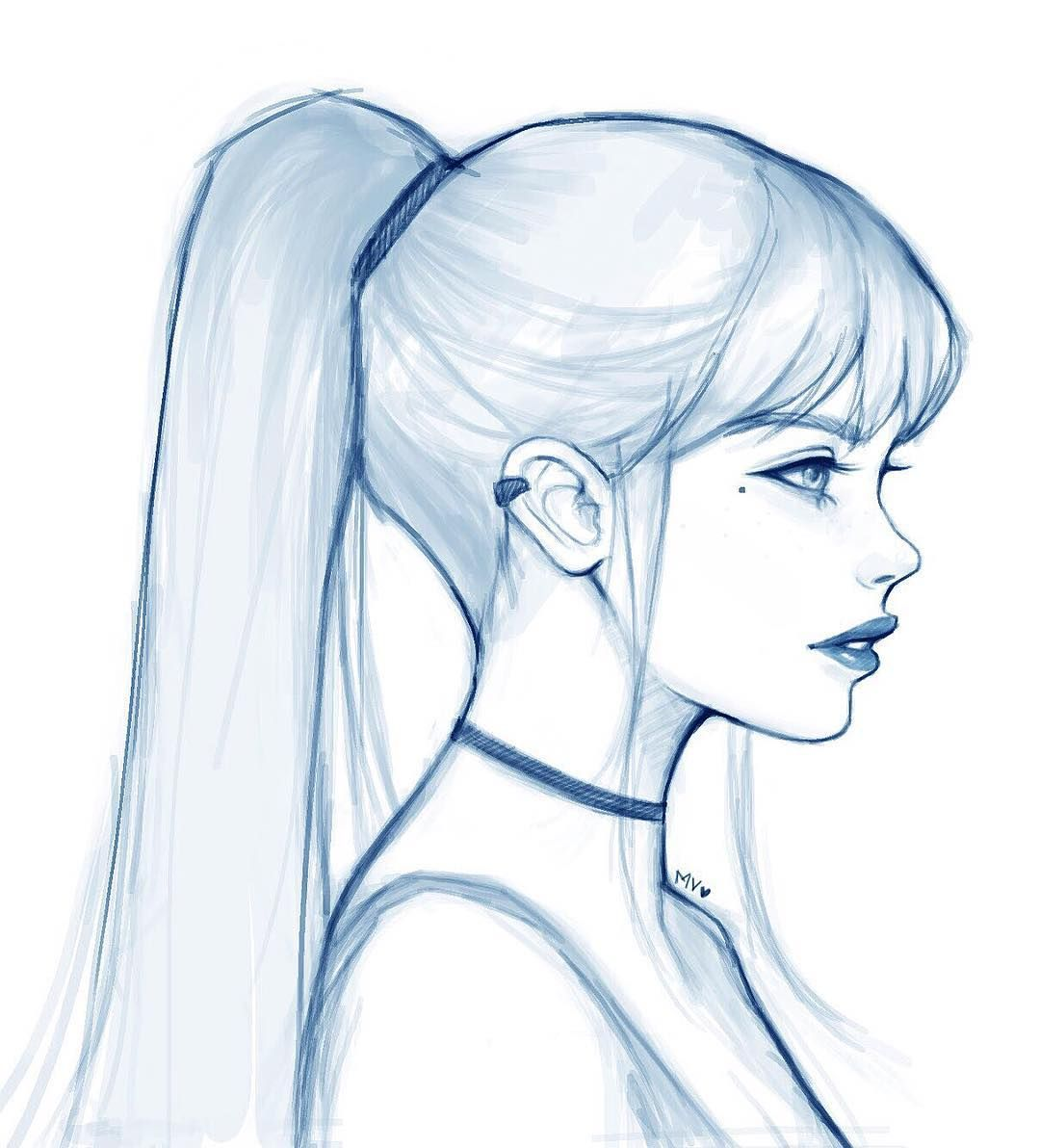 Wanted to draw a girl with a high ponytail! Any Game of