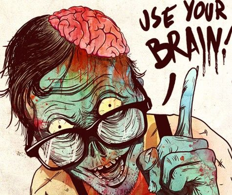 #Brains #Zambies #funny #horror