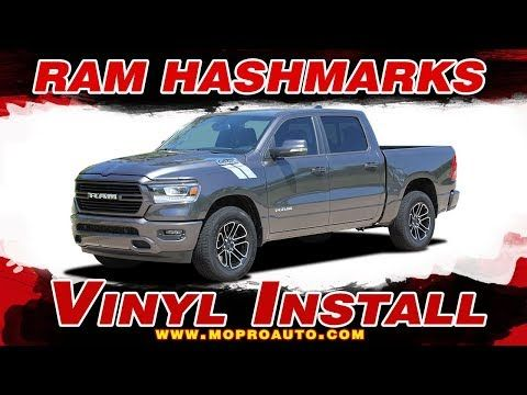 Hood Cowl Vinyl Graphic Decal Stripes for Dodge RAM 1500 2019 /& Up