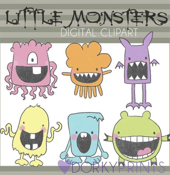 Monsters Clipart -Personal and Limited Commercial Use- Cute Monster Clip art #clipartfreebies