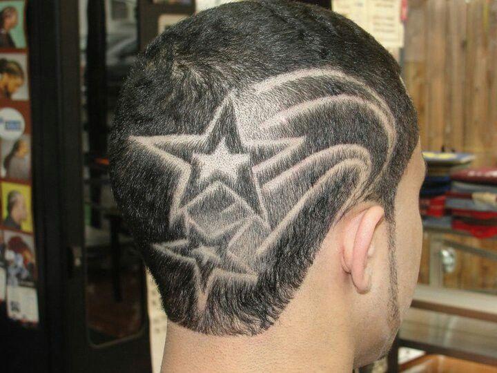 hairtatto star design haircuts