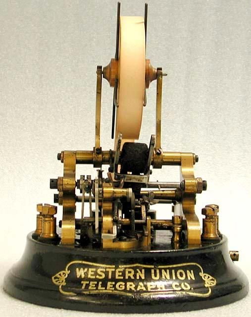 Edison Stock Ticker 1871 Thomas Edison Invented This For New