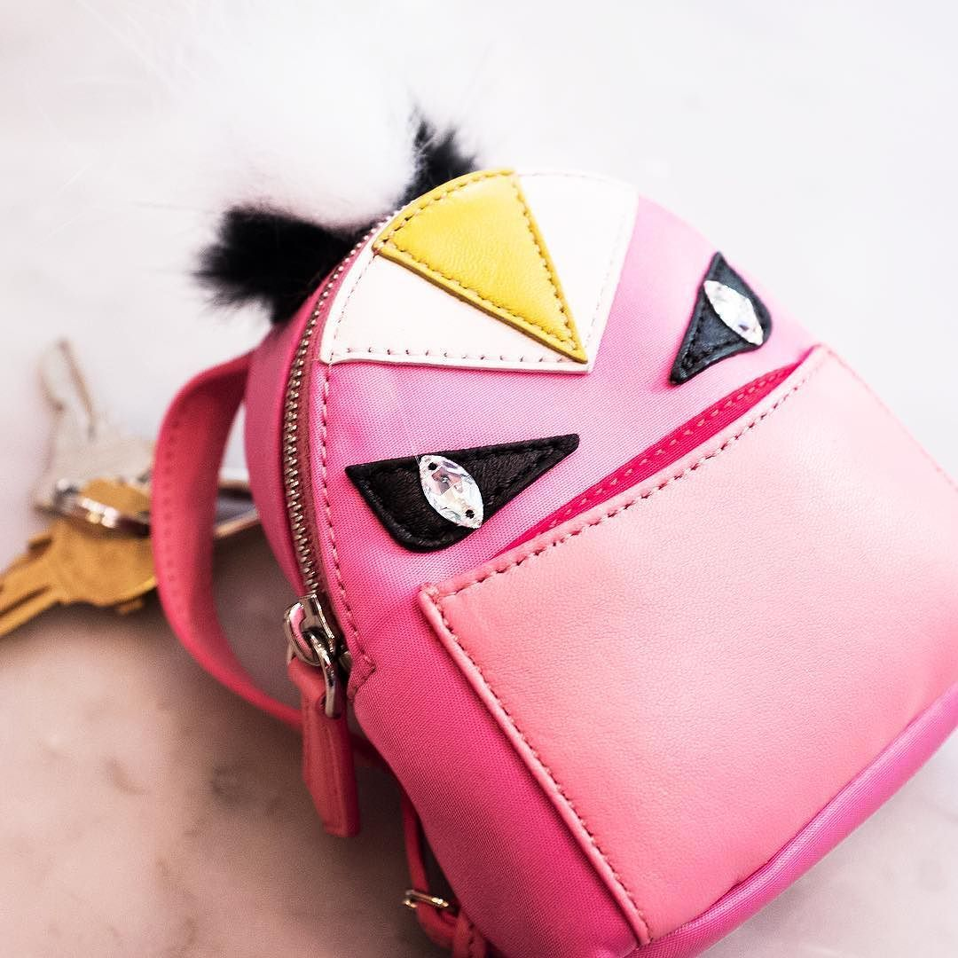 39157e5f5966 Mini  fendi monster backpack charm by purseblog Monster Backpack