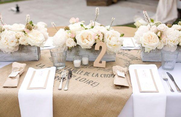 toile de jute mariage chemin de table mariage blanc kraft dentelle pinterest wedding and