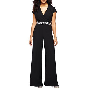 Bisou Bisou 174 Beaded Waist Jumpsuit Jcpenney My Style