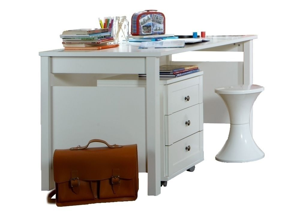 Kinderschreibtisch  Kinderschreibtisch Filou Computertisch mit Rollcontainer Weiß 7141 ...