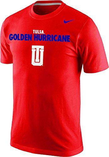 00d4b6c58c82 NIKE Nike Tulsa Golden Hurricane Team Nickname Word Graphic Block Font Logo  T-Shirt.