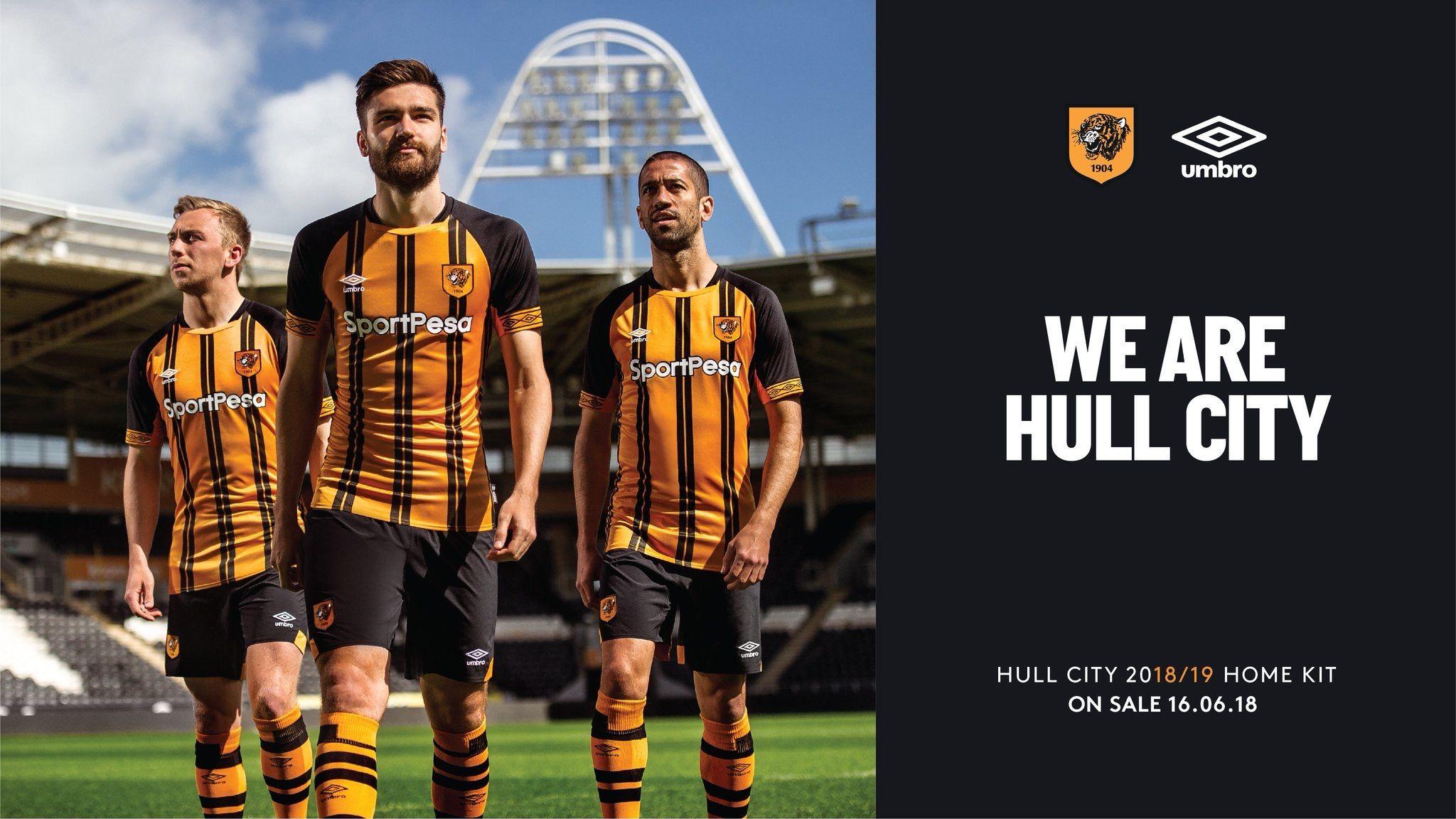 Hull City 2018 2019 Home Kit Hull City Hull City