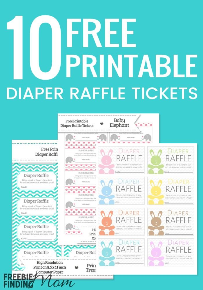 Sweet image pertaining to free printable diaper raffle tickets