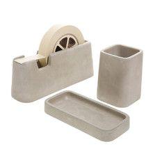 areaware - Concrete Desk Set