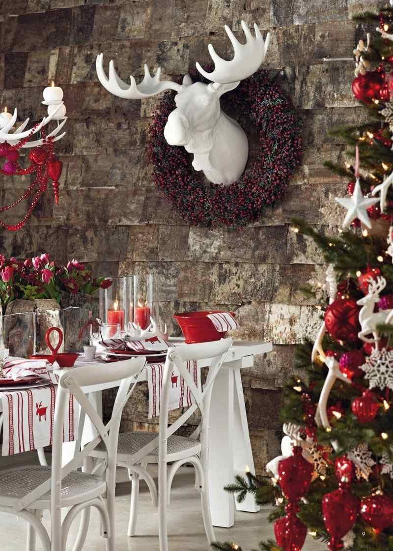 Decoration Table Noel Rouge Blanc Valoblogi Com