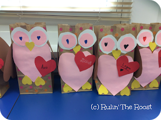 Owl Valentine's Day Bags - Classroom Freebies
