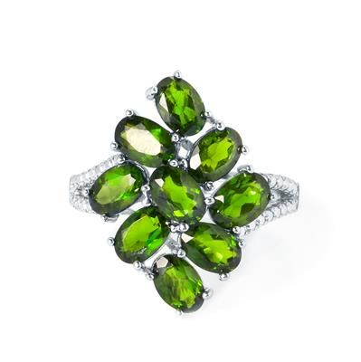 4.46ct Chrome Diopside Sterling Silver Ring