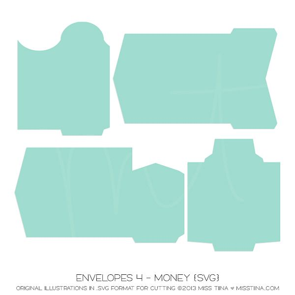 Envelopes 4 - Money {SVG}