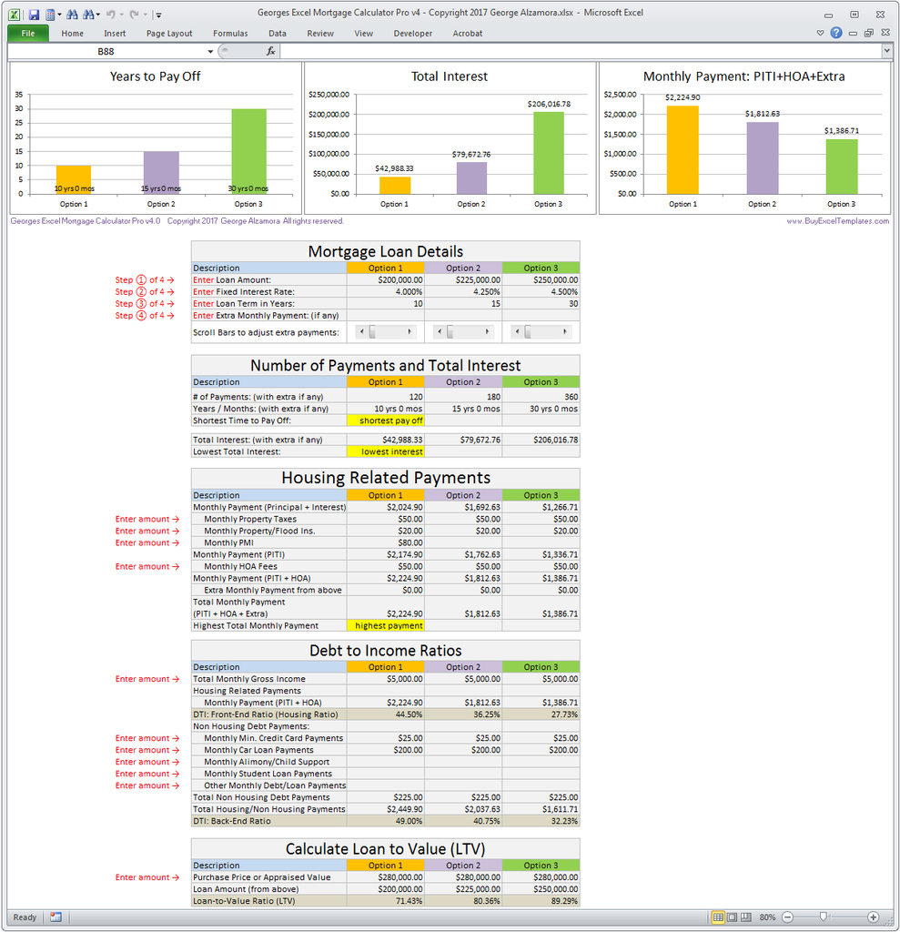 Amortization Spreadsheet With Extra Payments Mortgage Calculator Mortgage Payment Calculator Mortgage Amortization