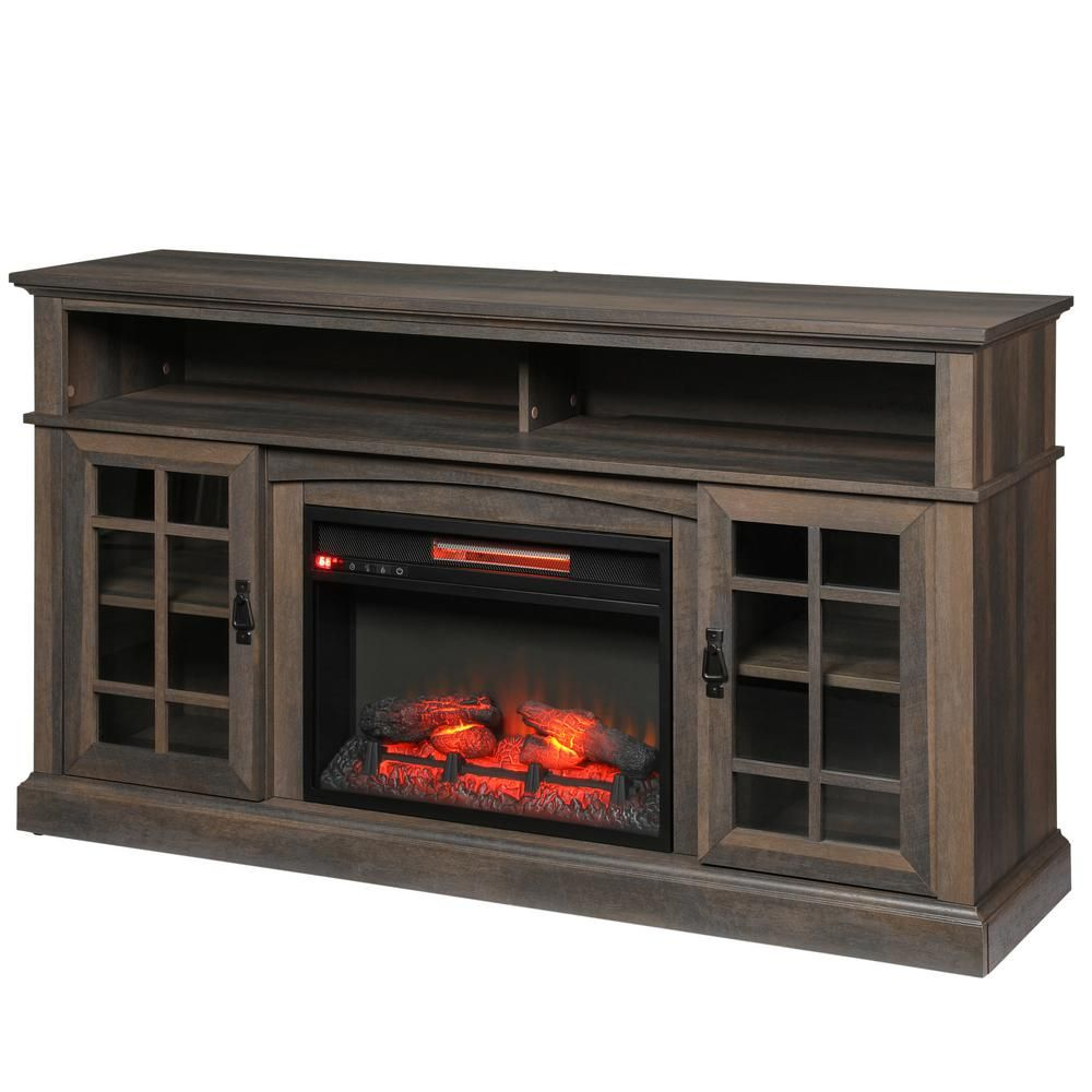 Fireplace Tv Stand Home Depot Brookdale 60 In Freestanding Electric Fireplace Tv Stand In