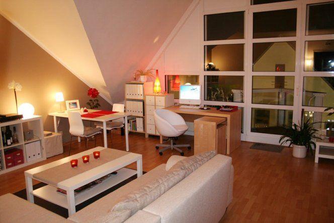 Wohnzimmer Wohn Schlaf Und Arbeitszimmer