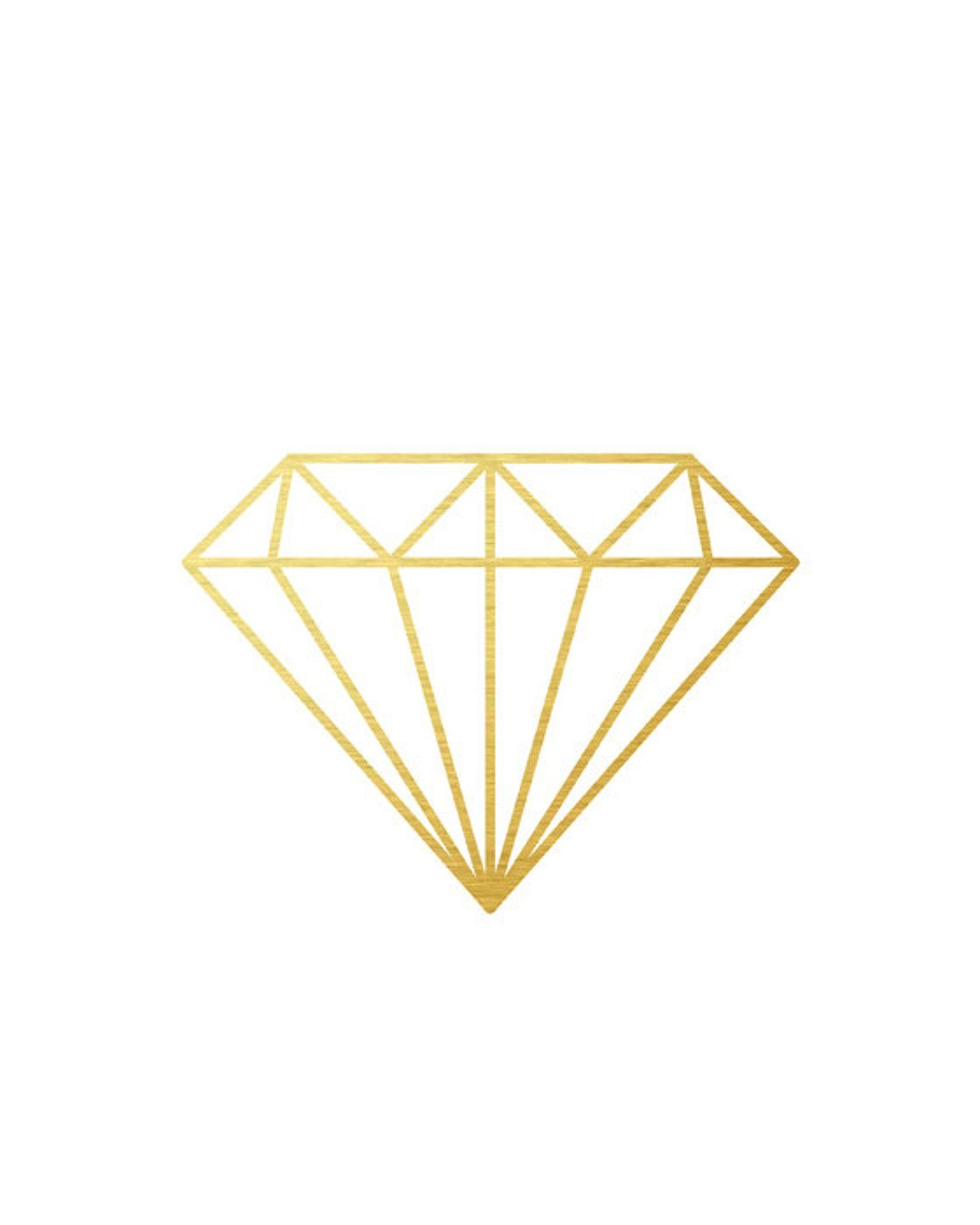 Geometric Diamond Gold Foil Wall Prints Gold Print Gold Minimalist Art Gold Modern Wall Art Line Drawing Minimal Modern Art Diamond Drawing Geometric Diamond Wall Prints
