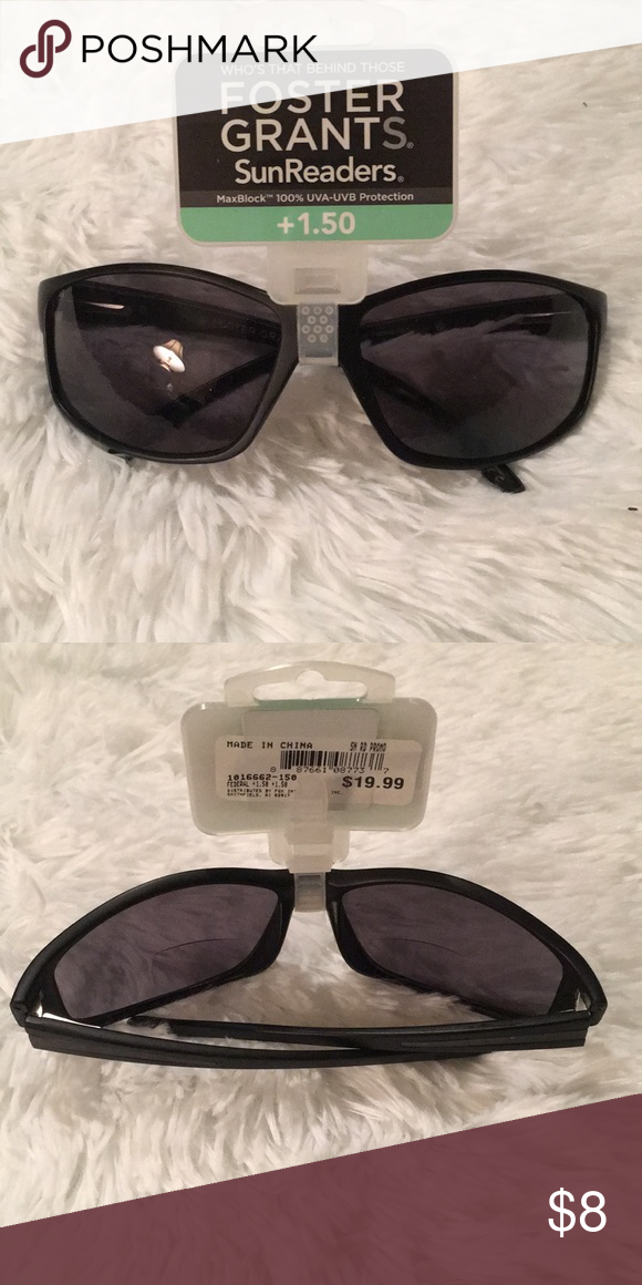 b7f30721d6 Foster Grant Sun Readers +1.50 Pair of Foster Grant Sun Readers. Max Block  100% UVA- UVB Protection +1.50 Foster Grant Accessories Sunglasses