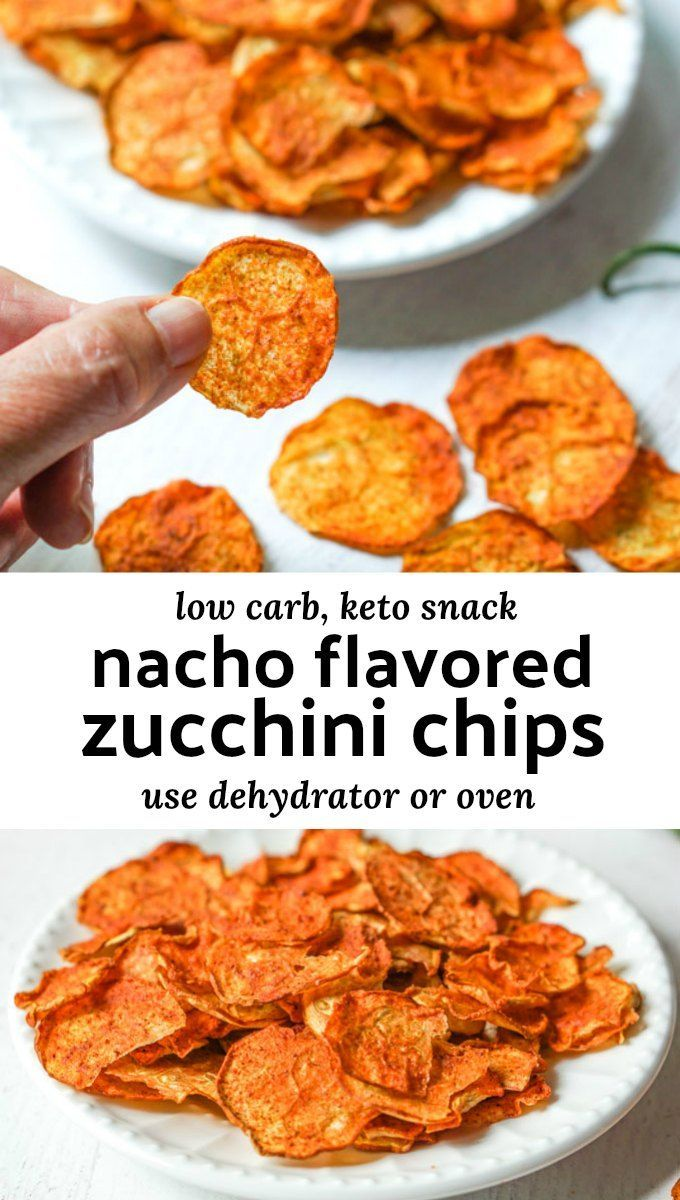 Low Carb Nacho Zucchini Chips Recipe - in the dehy