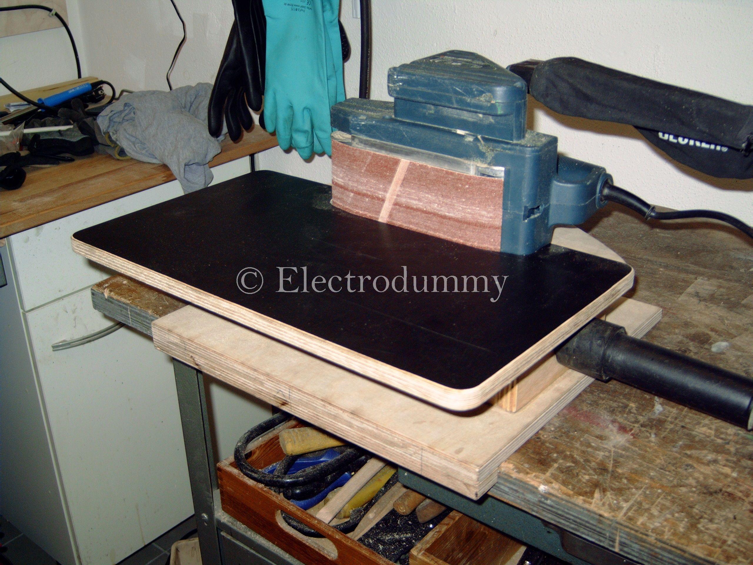 bandschleifertisch mit absaugung bauanleitung zum selber bauen projekte schleifen. Black Bedroom Furniture Sets. Home Design Ideas