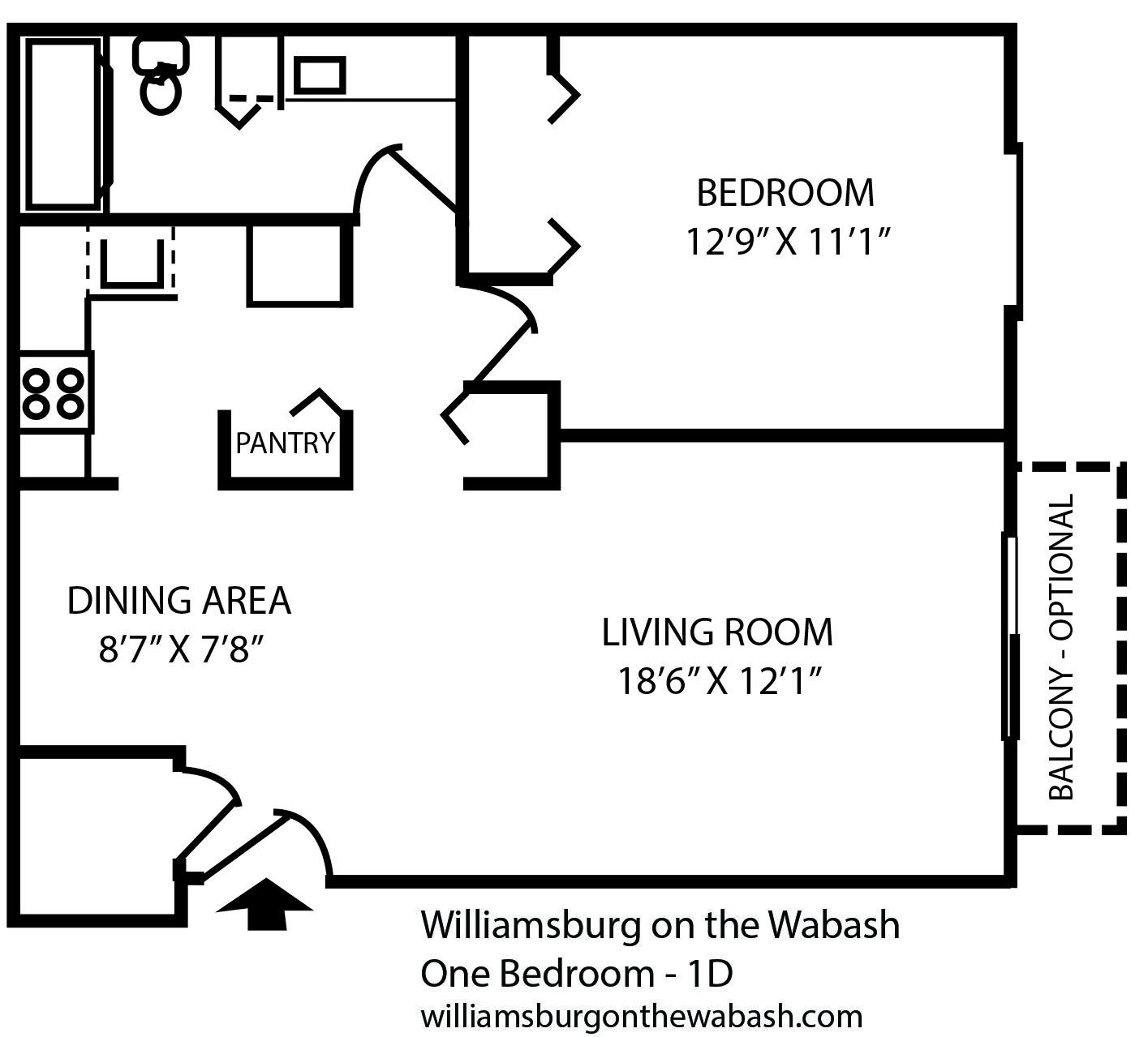 One Bedroom Apartment Near Purdue University In West