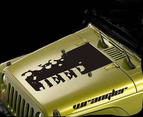 Jeep Wrangler Hood Decals Sticker Decal Off Road Sport 4 Wheel