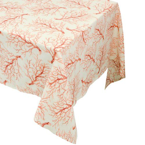 Raymond Waites Premium Quality Table Cloth   Table Linen (Beige/Branches)    Rectangular