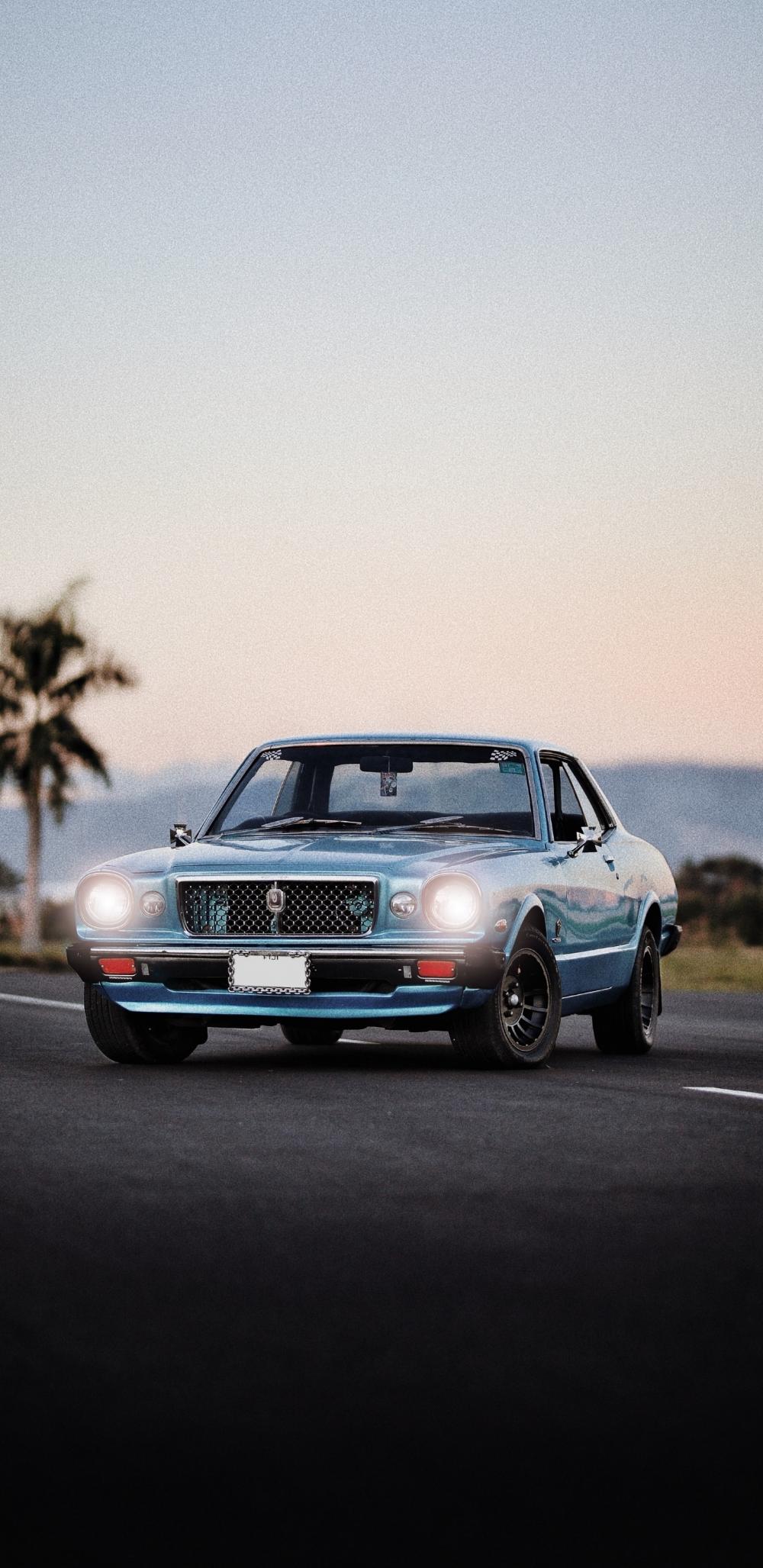 1440×2960 Blue, classic car wallpaper