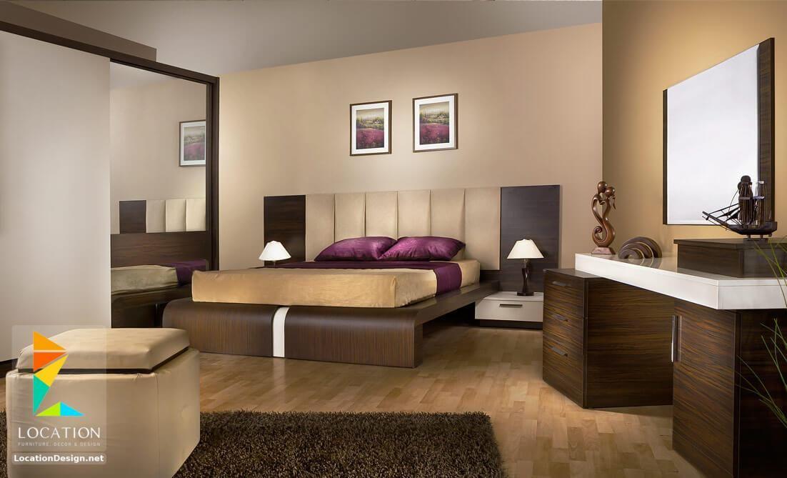اشكال غرف نوم كاملة بالدولاب جرار 2019 2020 لوكشين ديزين نت Bedroom Bed Design Brown Furniture Bedroom Bedroom Color Schemes