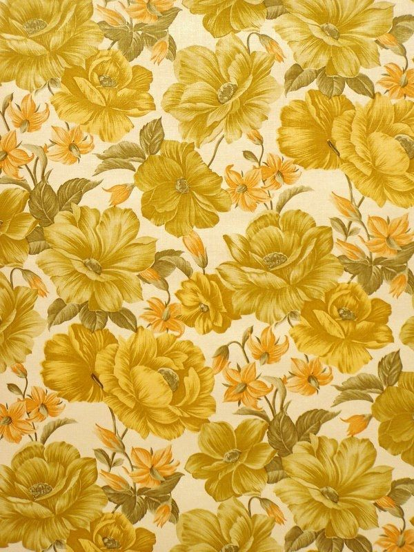 Retro Floral Wallpaper With Large Flower Pattern Floral Wallpaper Large Floral Wallpaper Vintage Floral Wallpapers