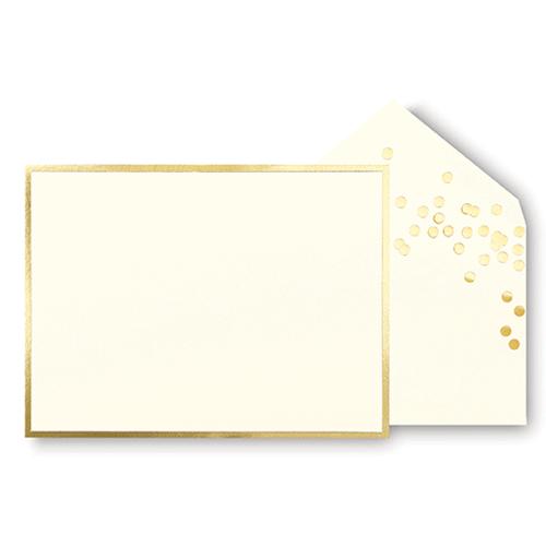 kate spade new york correspondence cards - gold dots