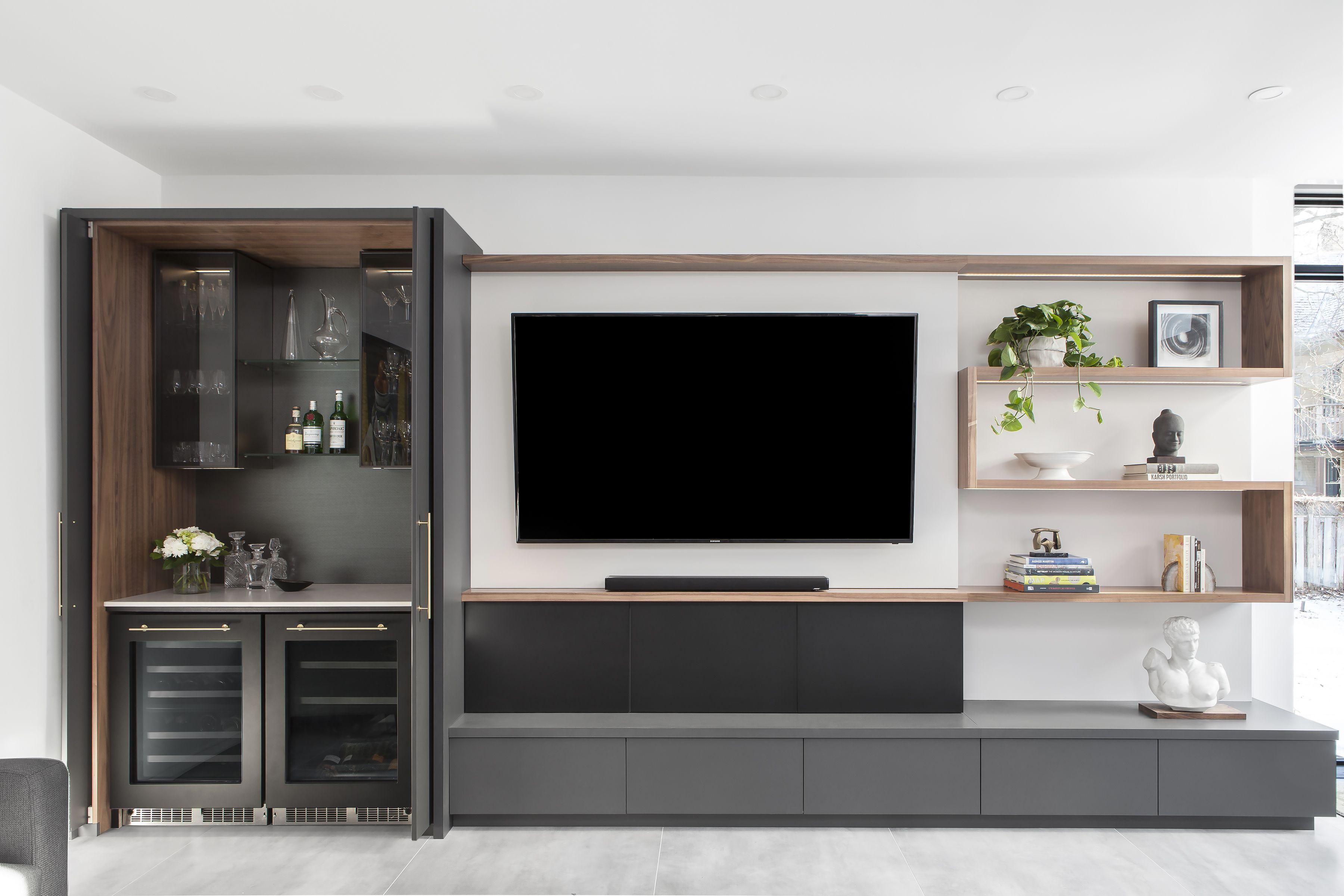 Custom TV unit in 2020 Custom Kitchen wall