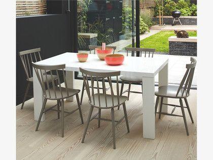 ASPER White High Gloss Dining Table