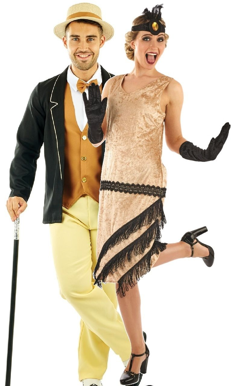 20s 1920s Charleston Black Red Yellow Grey Flapper Fancy Dress Costume