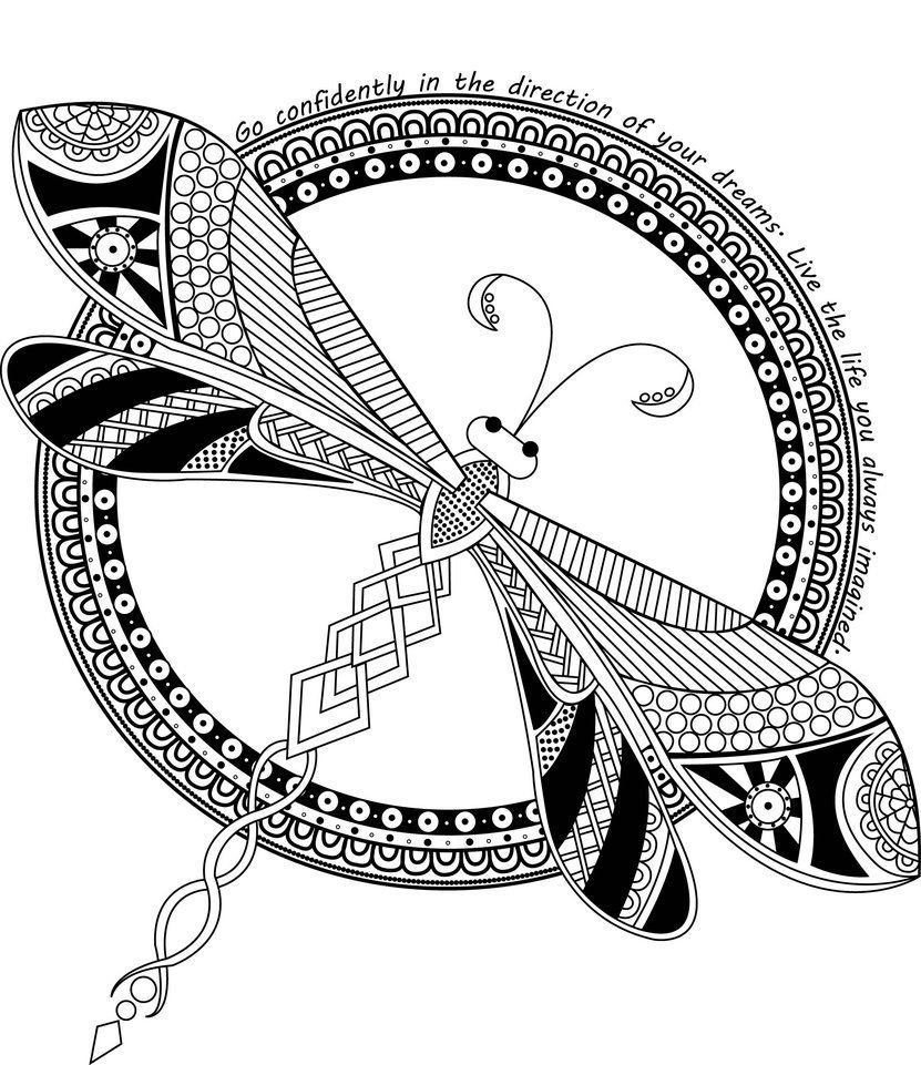 Coloring Rocks Insect Coloring Pages Mandala Coloring Pages Dragonfly Drawing
