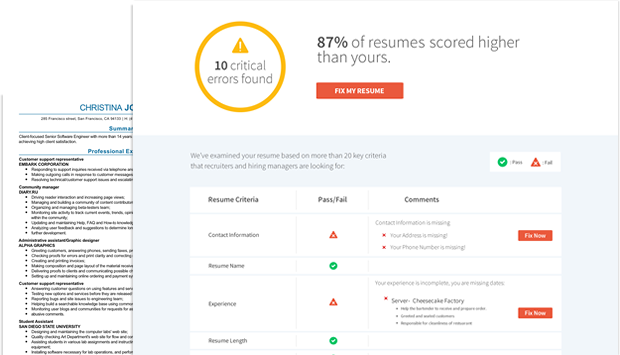 Resume Check Free Resume Review Resume Review Free Resume Builder Free Resume