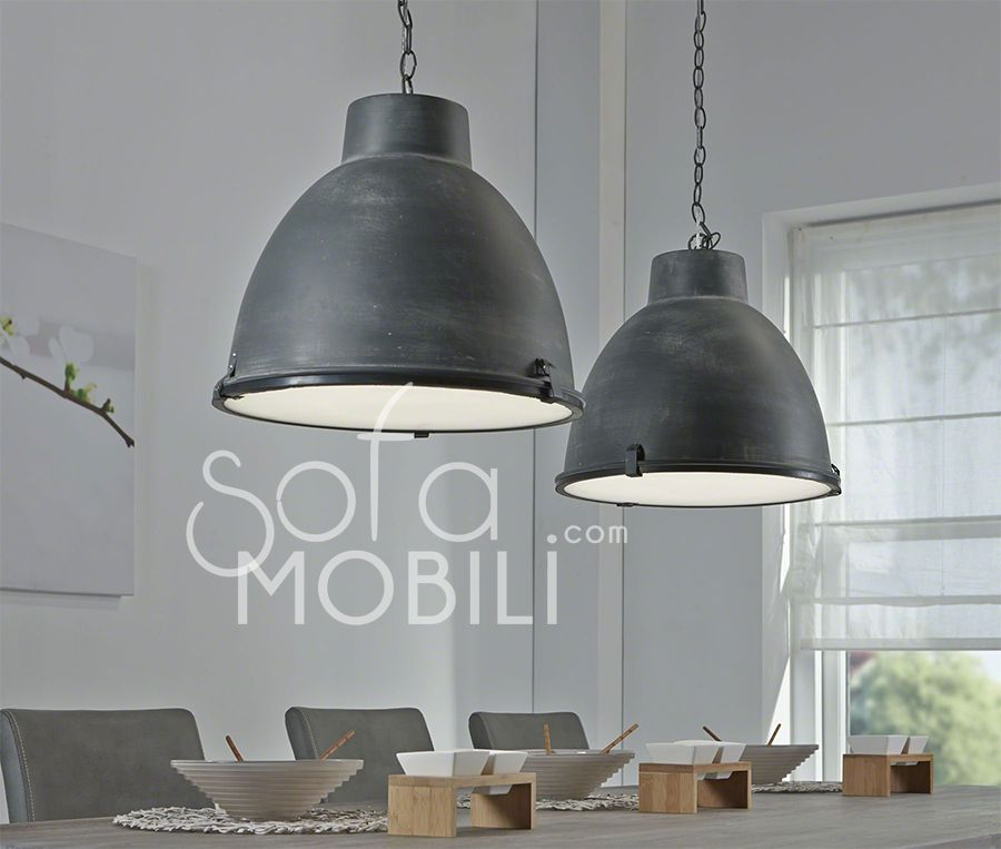 luminaire suspension m tal industriel bano d co 39 s d i y pinterest m taux. Black Bedroom Furniture Sets. Home Design Ideas