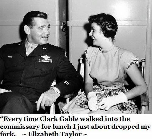 Clark Gable and Elizabeth Taylor | Elizabeth taylor, Clark gable, Movie  stars