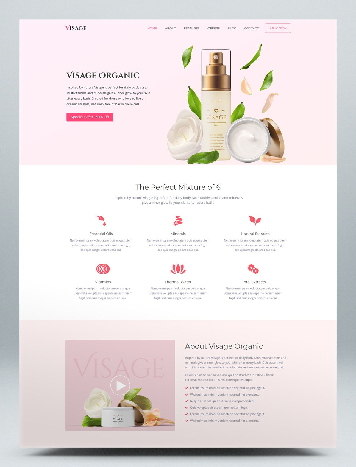 Epic Launch High Converting Landing Page Html Website Template Website Template Design Cosmetic Web Landing Page