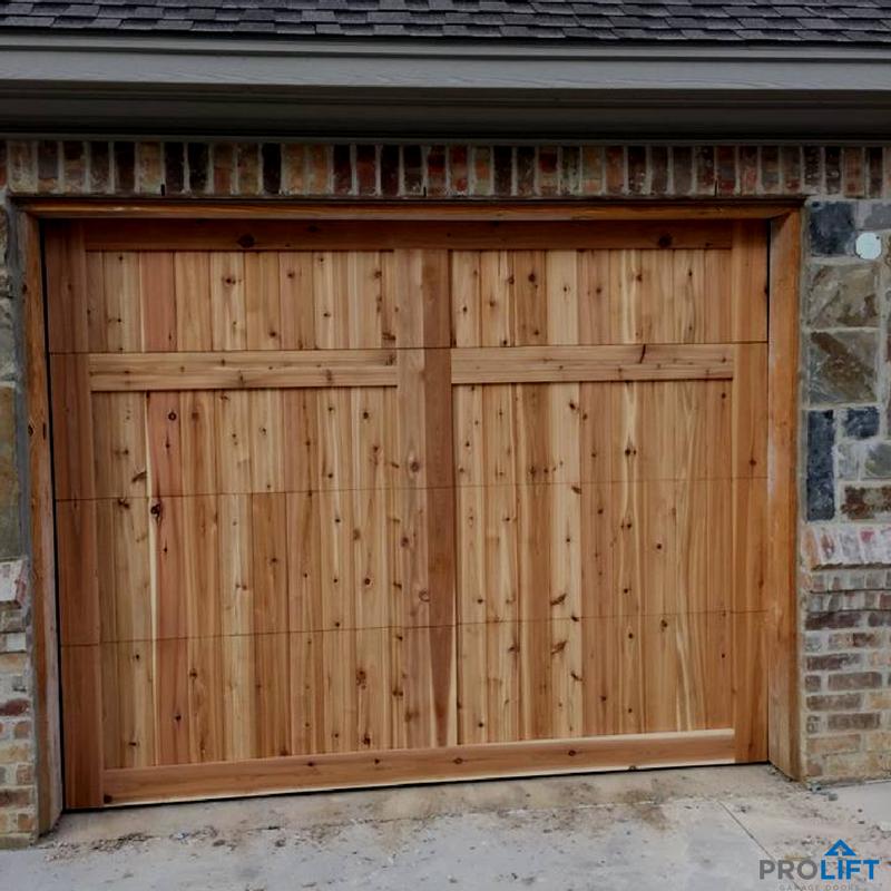 Unstained Cedar Garage Door With Rustic Design The New