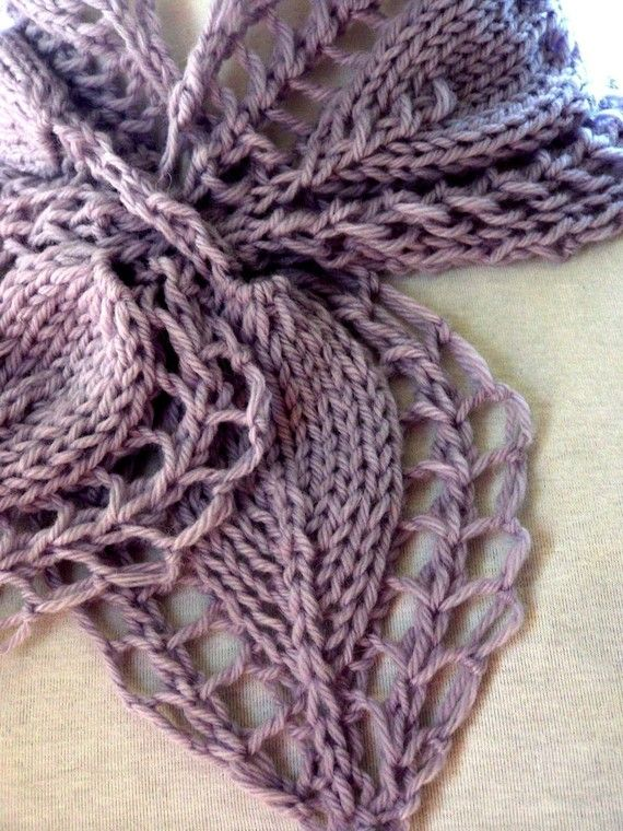 Scarf Knitting Pattern - Victorian Rose   Puntas rosas, Victoriano y ...